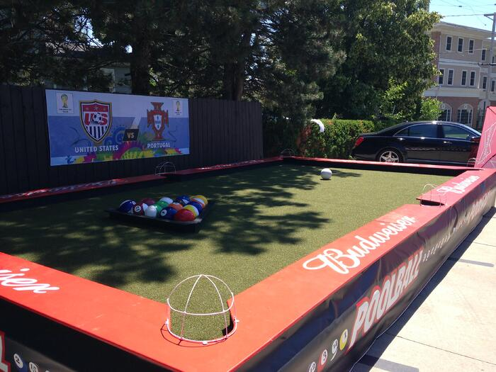 Artificial Turf soccer pool table