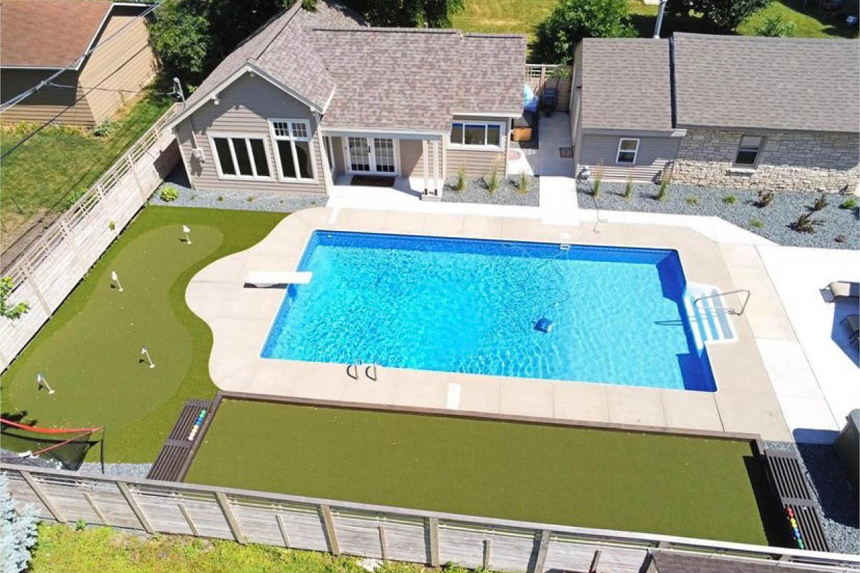 Artificial Turf Pool Landscaping