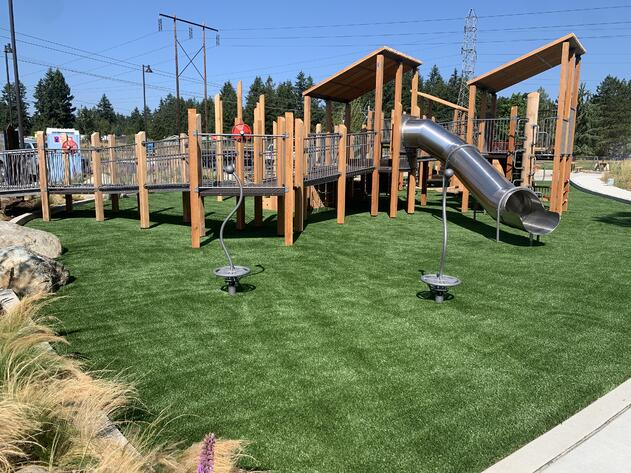 Artificial Turf Playground with Envirofill Antimicrobial Infill