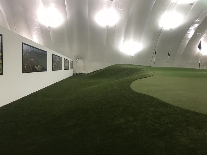 Turning Stone Artificial Turf Golf Dome
