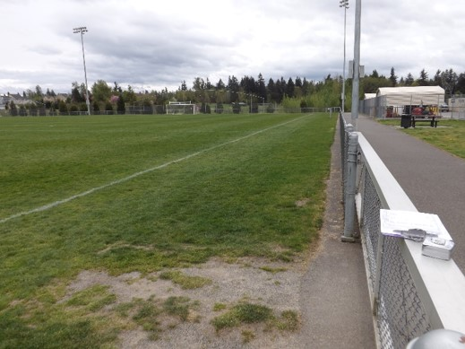 Pierce County Before Soccer field was installed with Envirofill turf infill on synthetic turf field