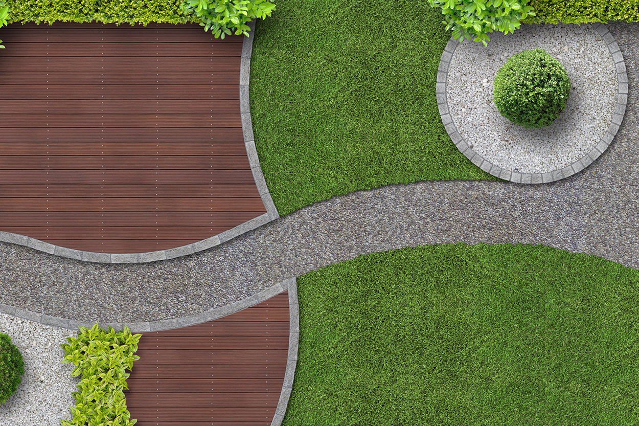 Sustainable Landscape Architecture with Synthetic Turf and Safeshell or Envirofill