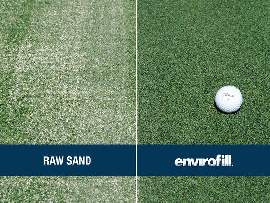 Putting Green with Envirofill - Comparison vs Raw Sand for Email