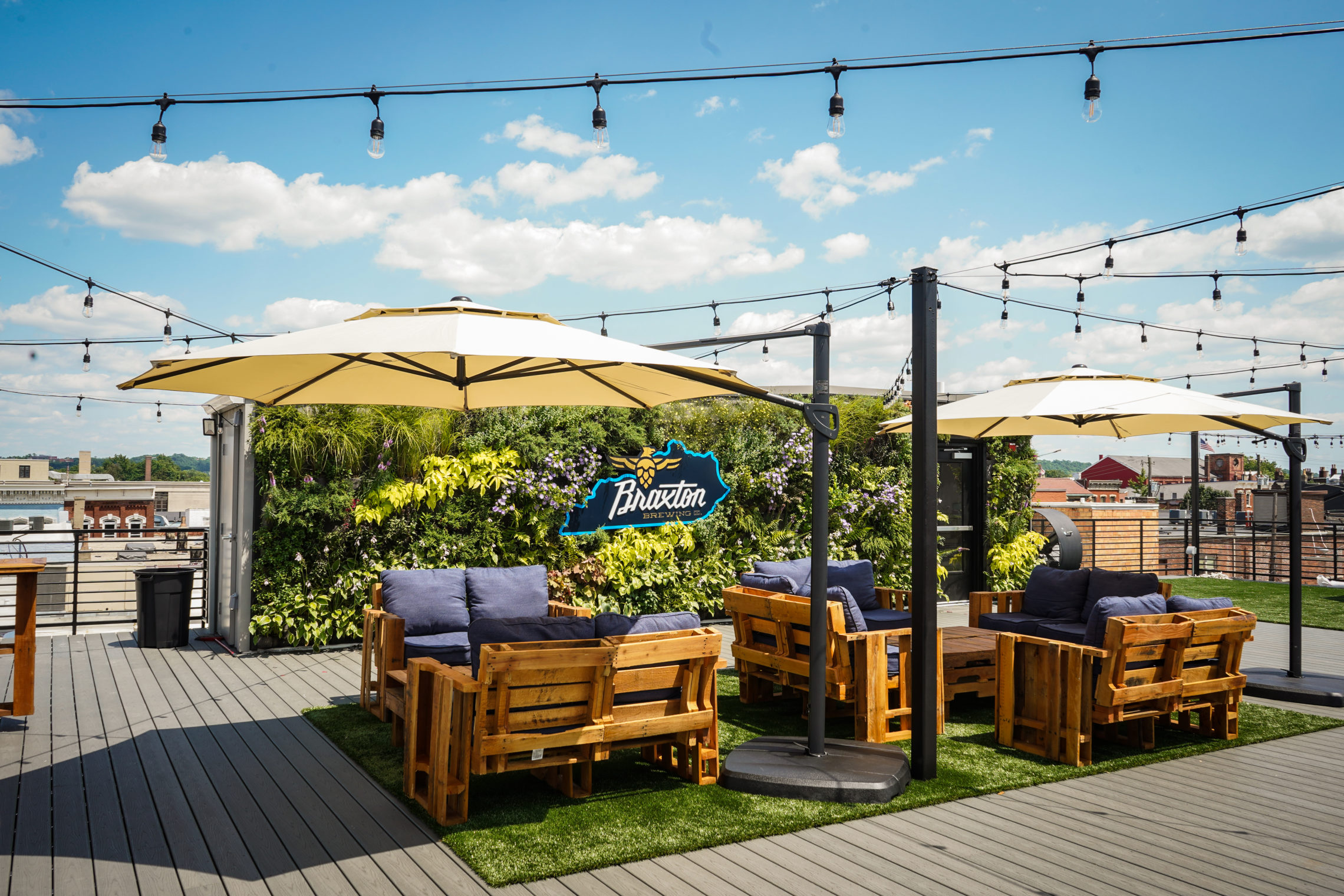 Braxton Rooftop Brewery Synthetic Turf with Envirofill