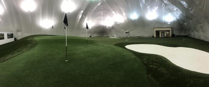 Synthetic Turf Golf Dome with Envirofill Infill