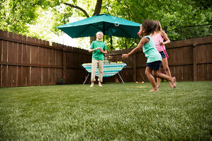 Kids Playing on Envirofill Turf Infill