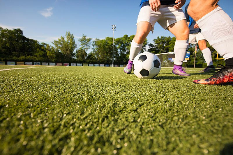 Synthetic Turf Soccer Field with Envirofill Performance Infill