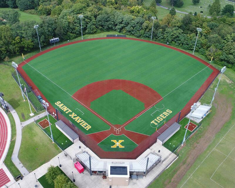 St. X high school full synthetic turf field with Envirofill