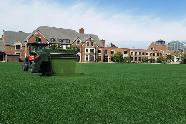 what does regular maintenance of artificial turf sports fields involve