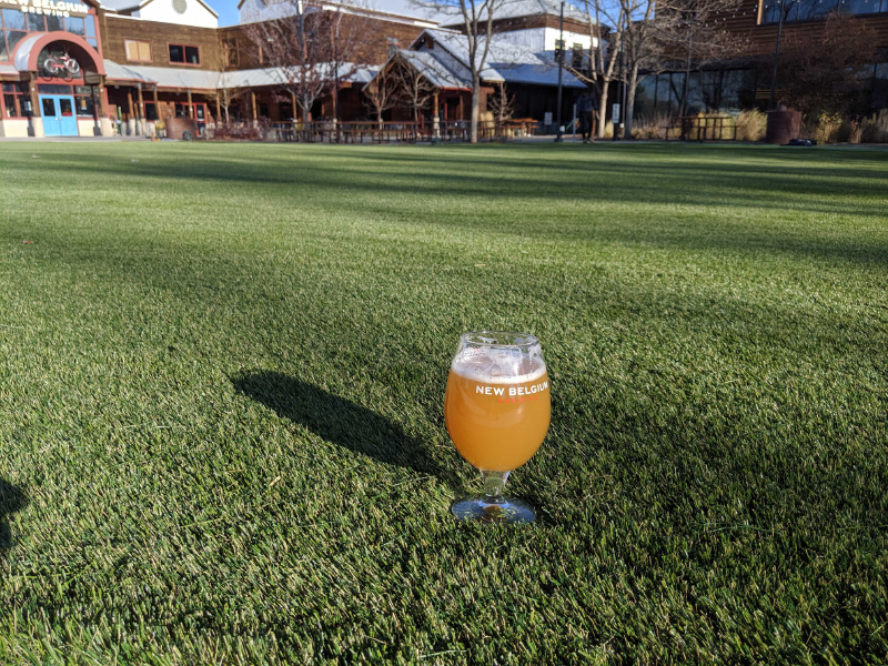 artificial turf at New Belgium Brewery