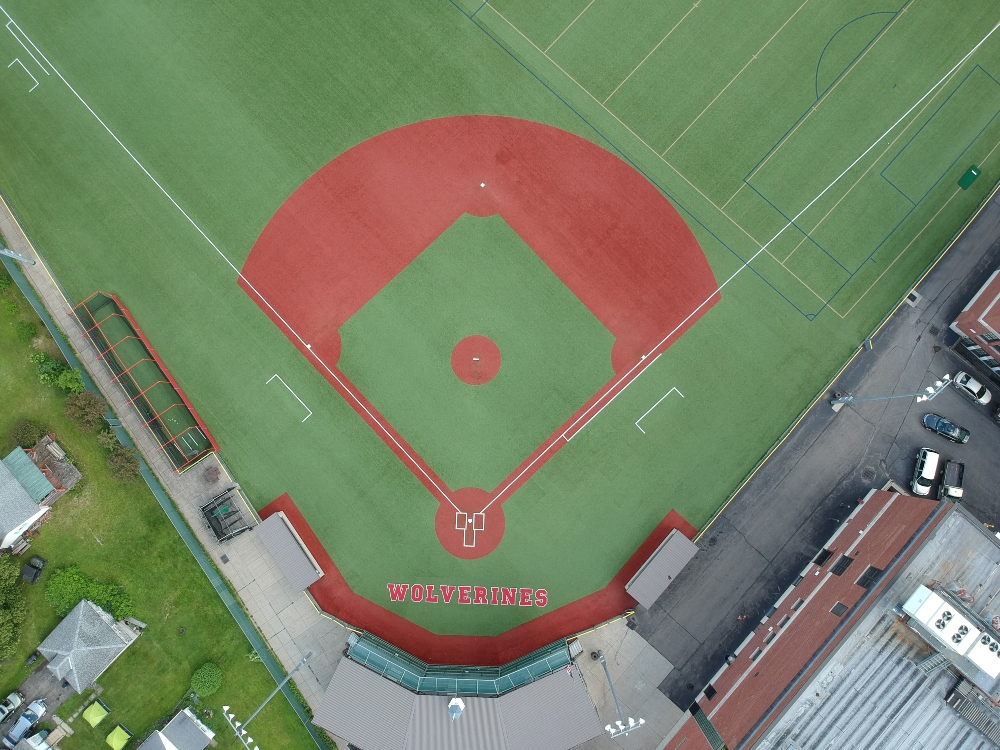 turf infill for synthetic baseball field