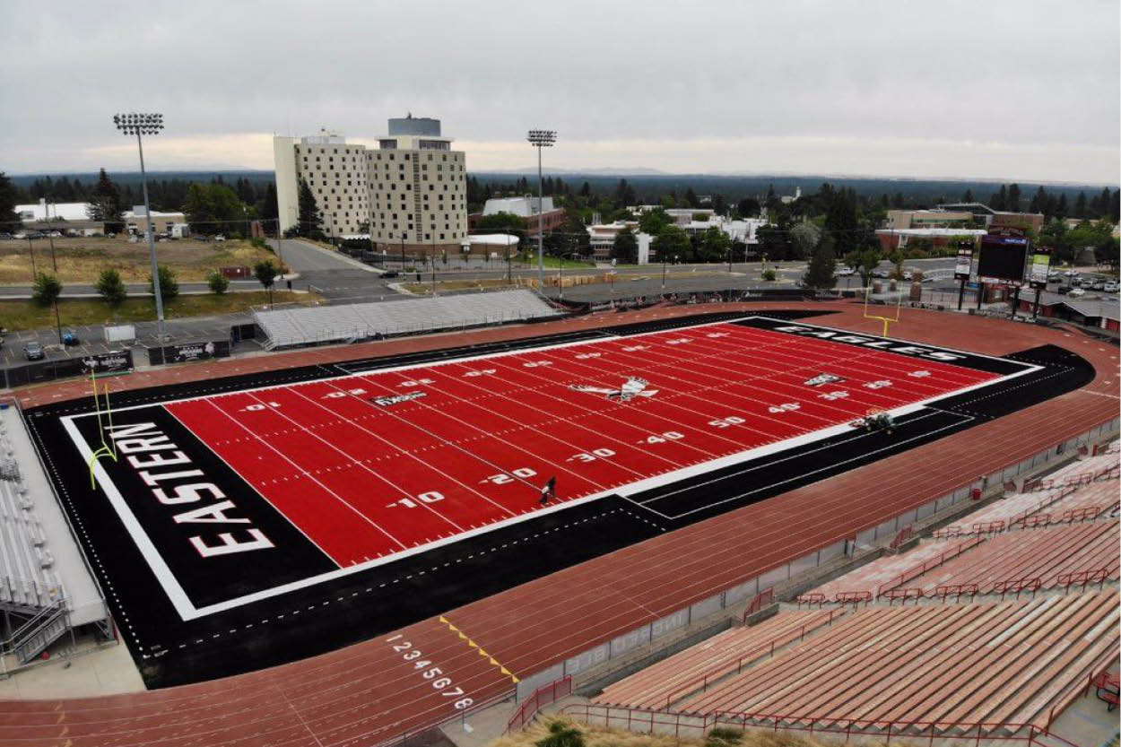 Envirofill Selected to Complement EWU's Iconic Red Athletic Field